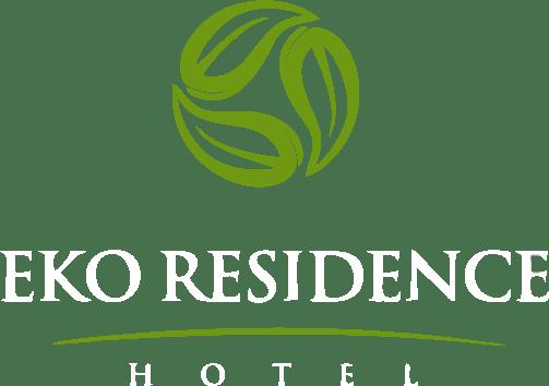 logo Eko residence hotel letra branca quadrado vetor