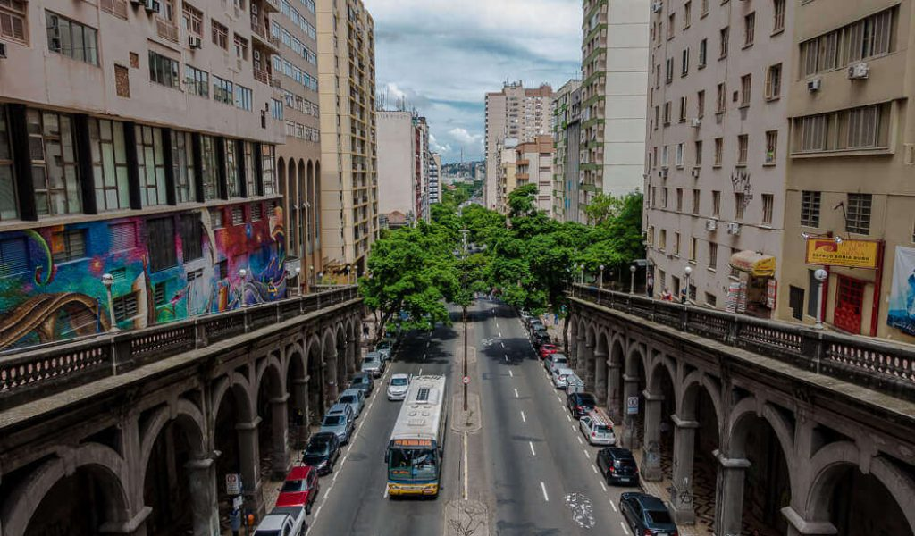 pontos turísticos de Porto Alegre Viaduto Otávio Rocha
